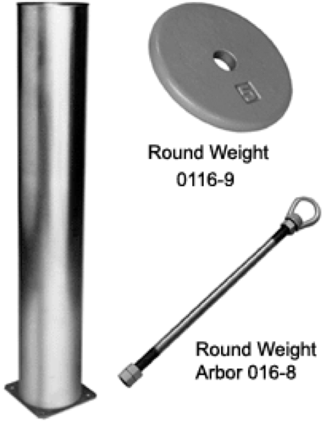 Round Weight Arbor Components